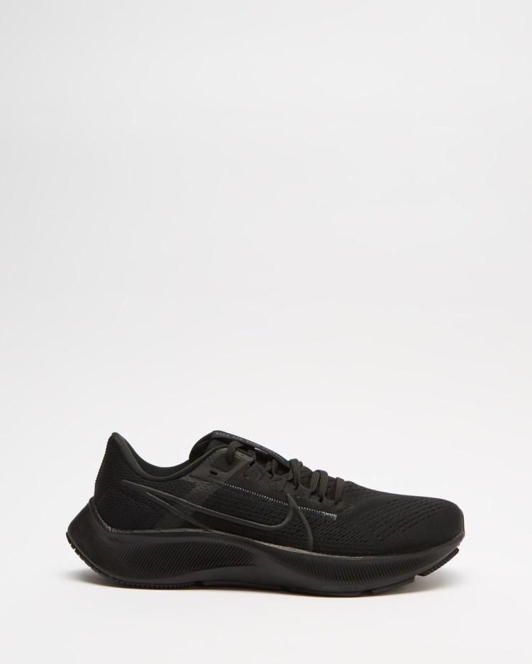 Nike Air Zoom Pegasus 38 Womens Performance Shoes Black, Anthracite & Volt