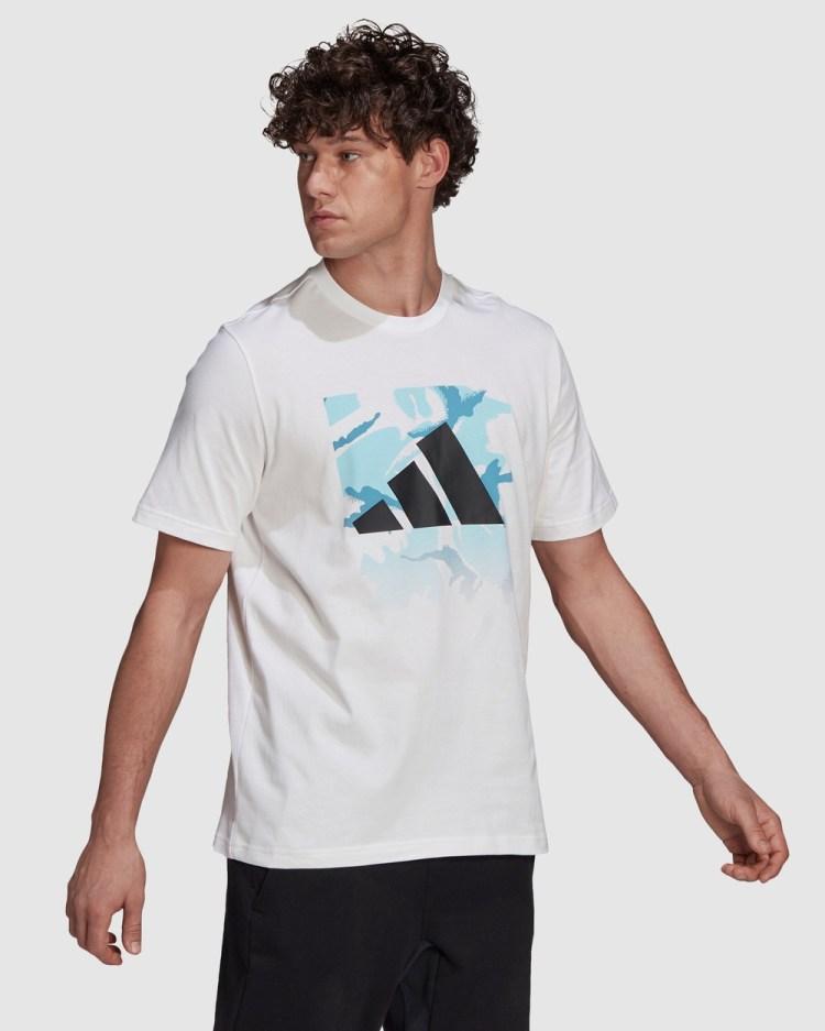 adidas Performance Graphic Tee T-Shirts & Singlets White