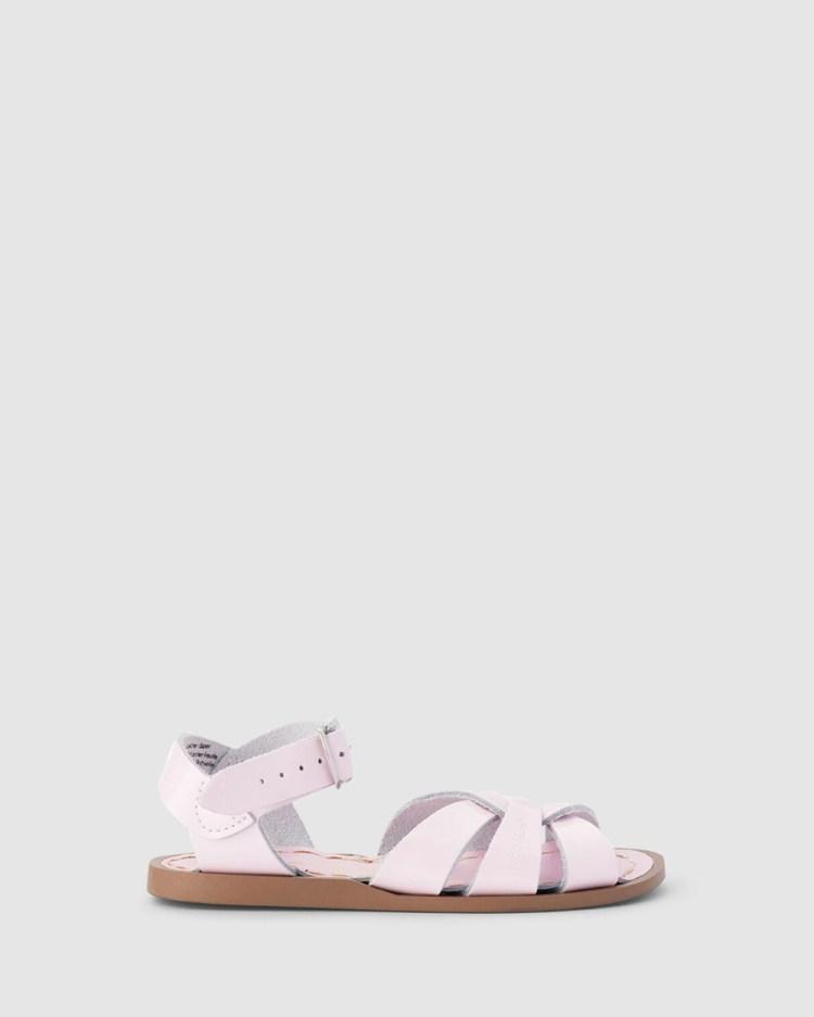 Saltwater Sandals Salt Water Original Kids Shiny Pink