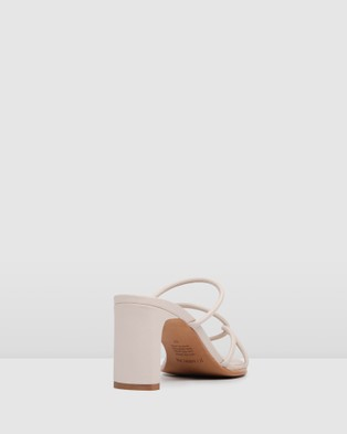 Jo Mercer Novi Mid Heel Sandals Bone
