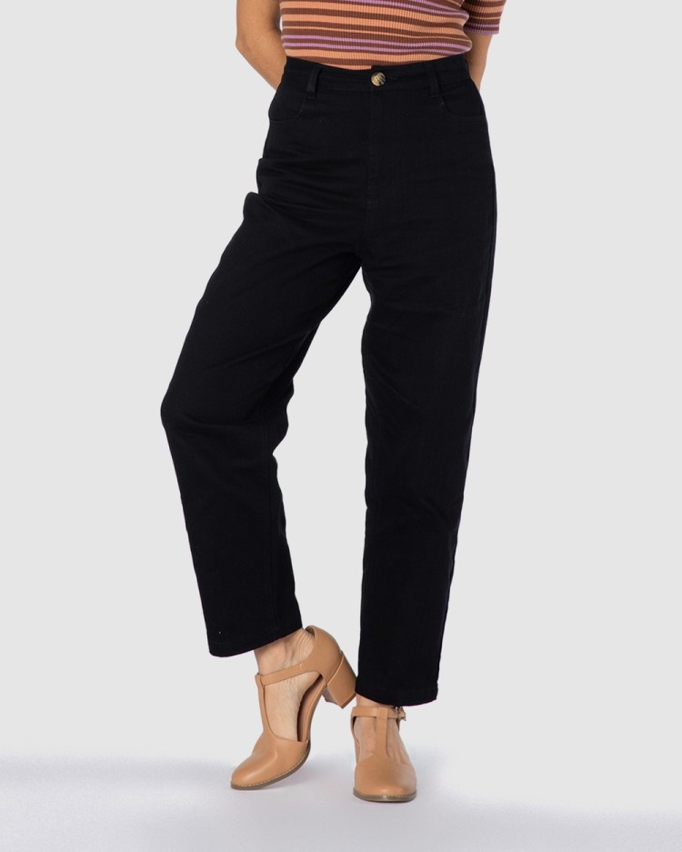 Princess Highway Kimberly Pants High-Waisted Black