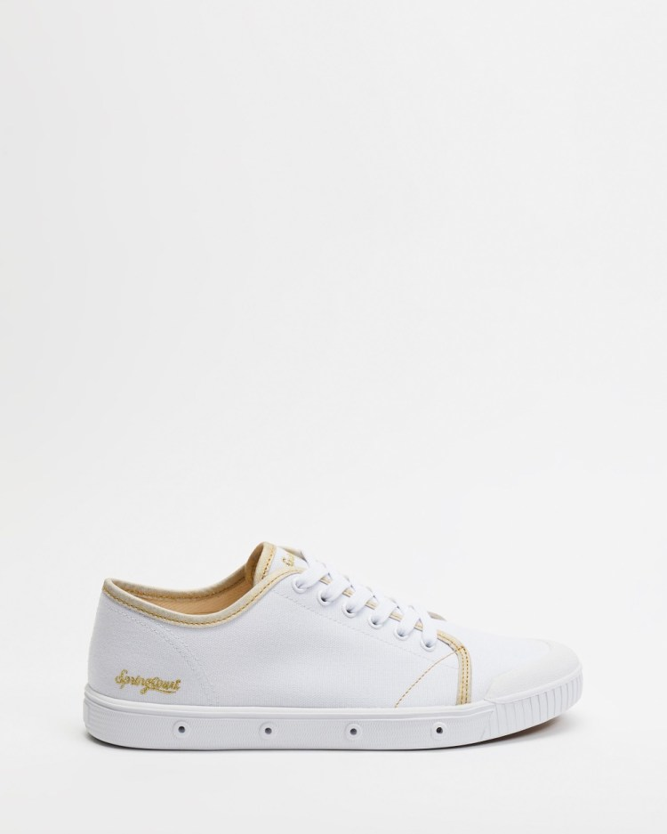 Spring Court Cup Organic Canvas Women's Sneakers White & Gold