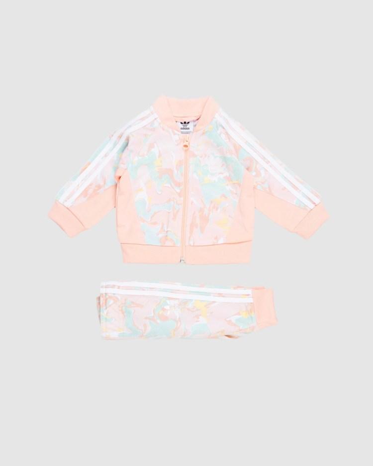 adidas Originals Marble Print SST Set Babies Kids Sweatpants Pink Tint, Multicolour & Haze Coral Babies-Kids