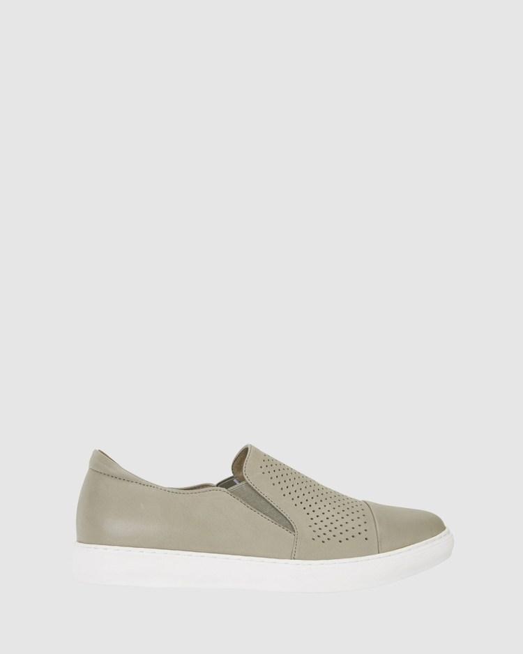 Jane Debster Celina Slip-On Sneakers KHAKI
