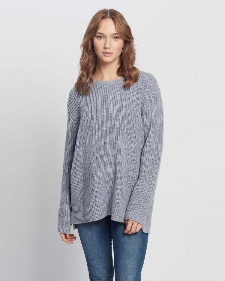 Angel Maternity Oversized Wool Knit Nursing Jumper Jumpers & Cardigans Grey