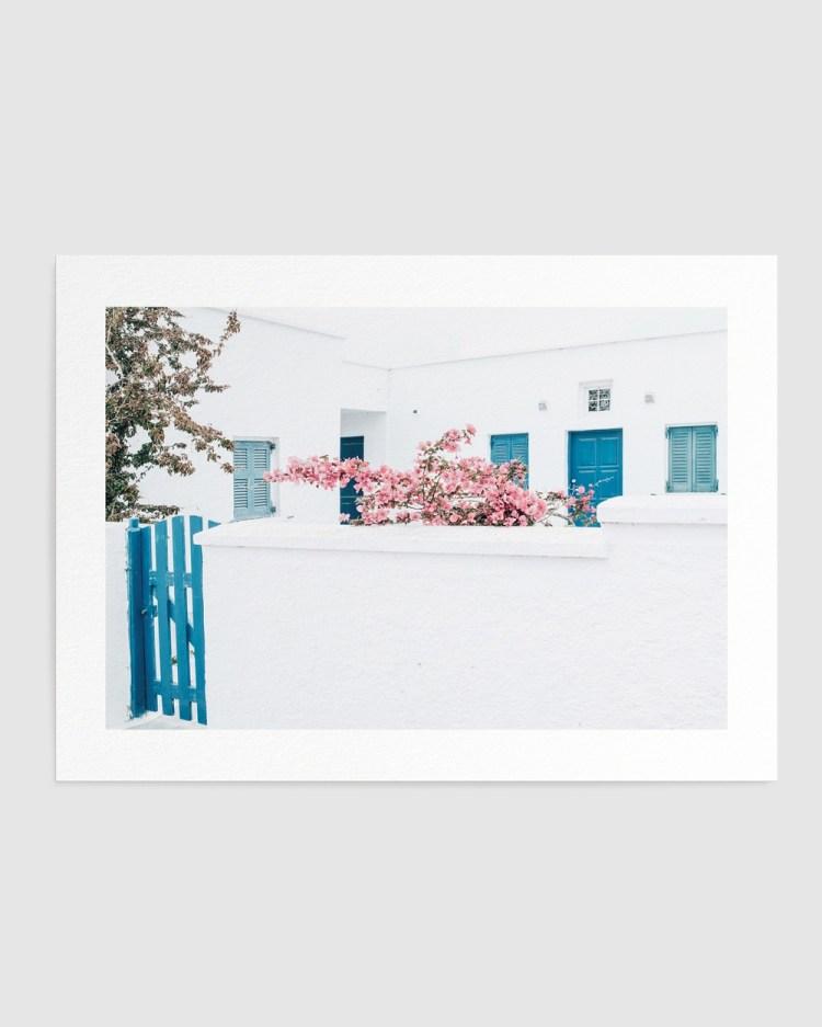 Olive et Oriel Santorini In Spring Art Print A2 Home Santorini A2