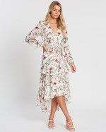 Atmos&Here - Larissa Ruffle Midi Dress - Printed Dresses (Floral) Larissa Ruffle Midi Dress