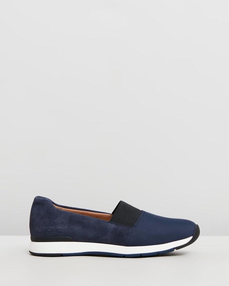 Vionic Cameo Slip Ons Slip-On Sneakers Navy Slip-Ons
