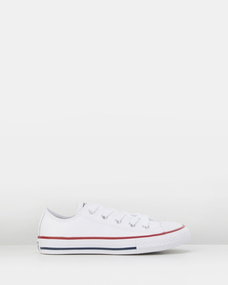 Converse Chuck Taylor All Star Ox Leather Youth Flats White/Black