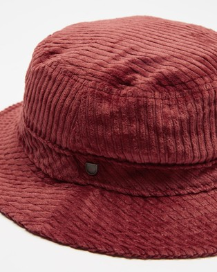 Brixton - Hardy Bucket Hat   Women's - Hats (Red) Hardy Bucket Hat - Women's