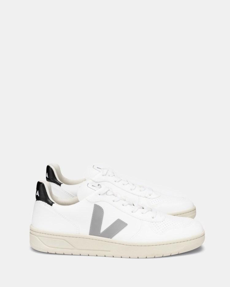 Veja V 10 Unisex Lifestyle Sneakers White, Oxford Grey & Black V-10