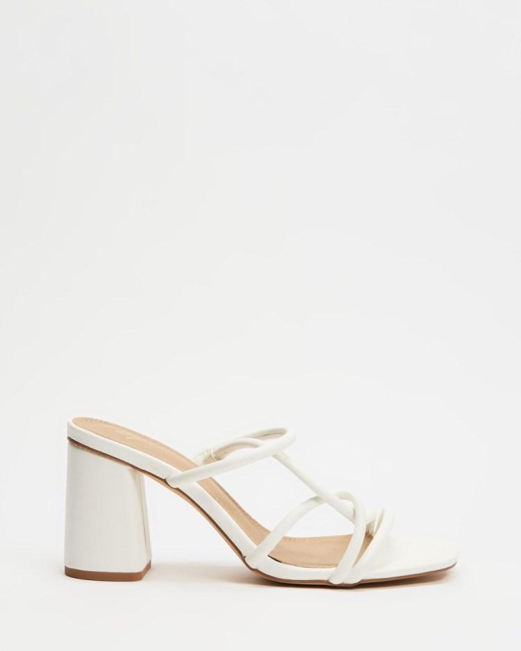 SPURR Ravelli Considered Heels Sandals White Smooth