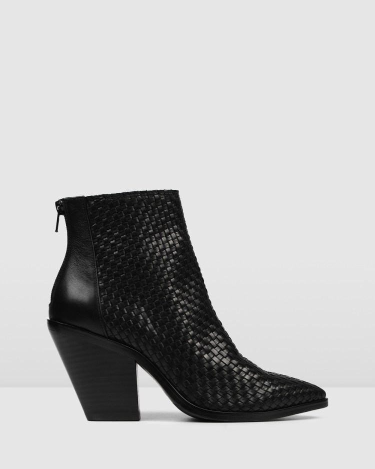 Jo Mercer Hvar High Ankle Boots BLACK LEATHER