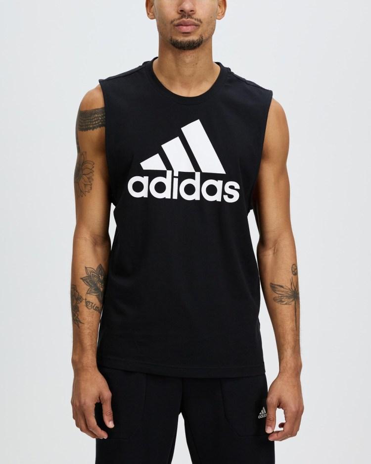 adidas Performance Essentials Big Logo Tank Top Muscle Tops Essentials Top