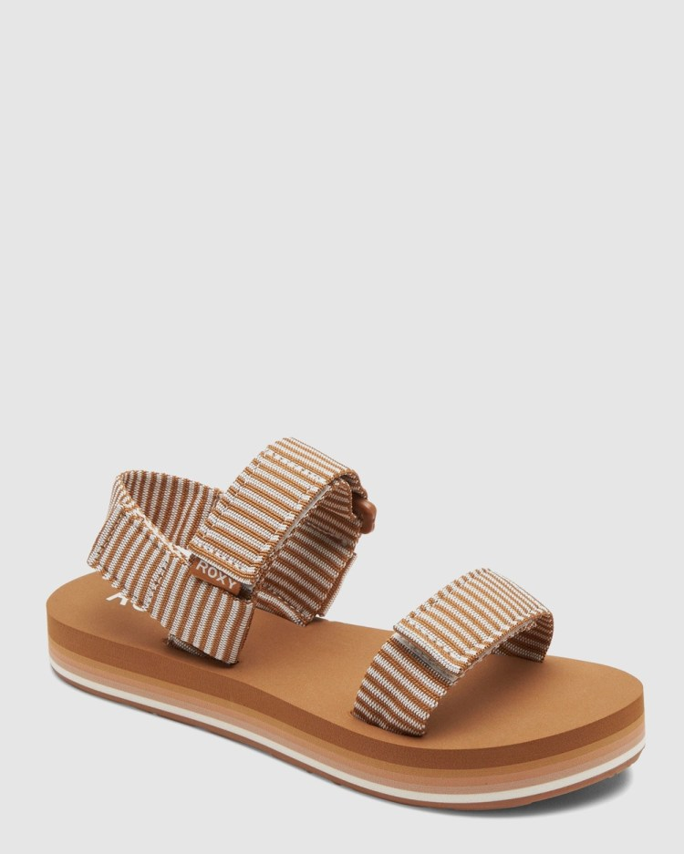 Roxy Womens ROXY Cage Sandals BROWN/WHITE