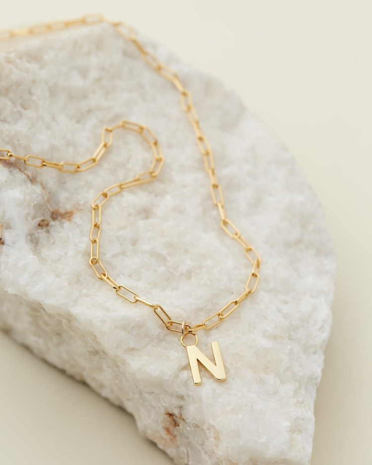 Avant Studio Letter N Necklace Jewellery Gold