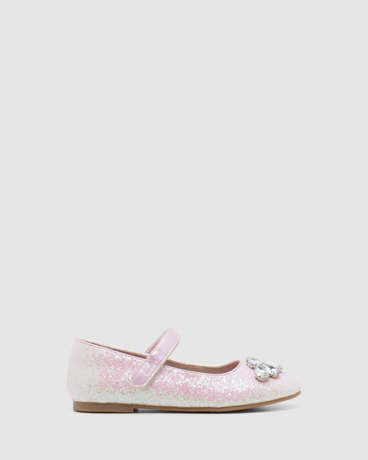 Clarks Adele Flats Pale Pink