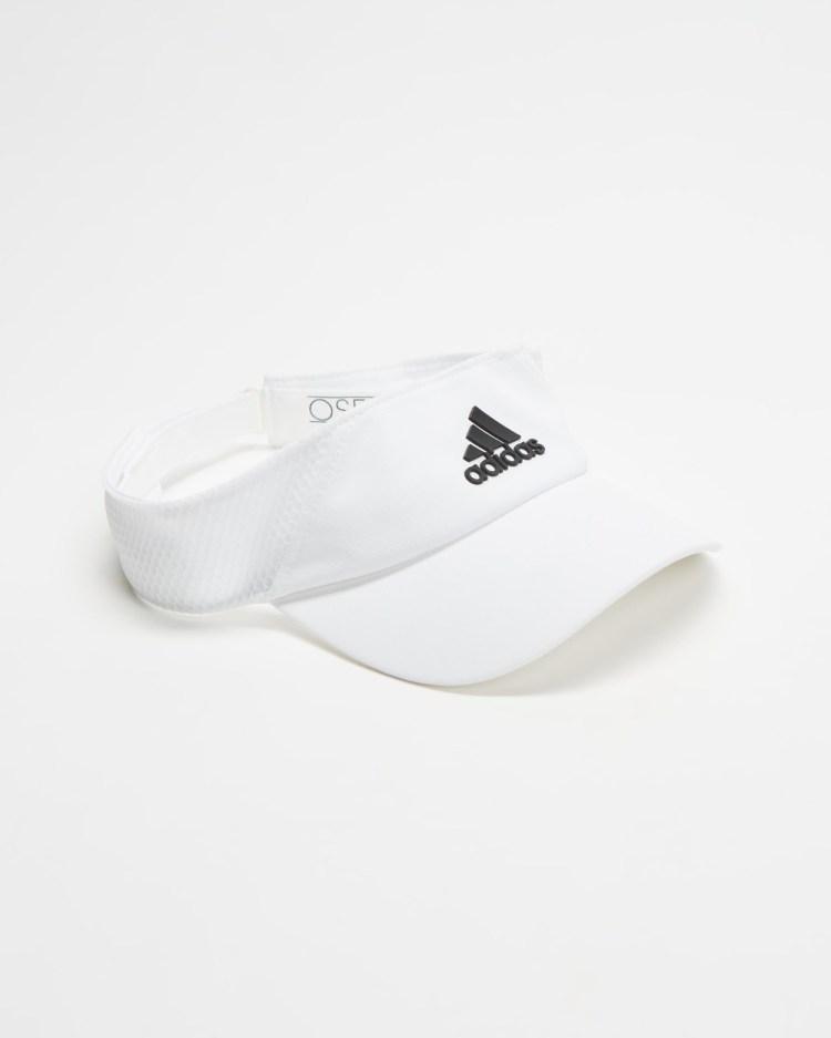 adidas Performance AEROREADY Visor Unisex Visors White, White & Black