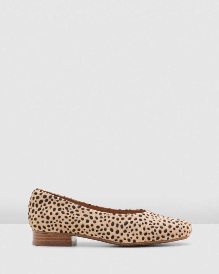 Hush Puppies Solana Dress Shoes Tan Spotted Leopard