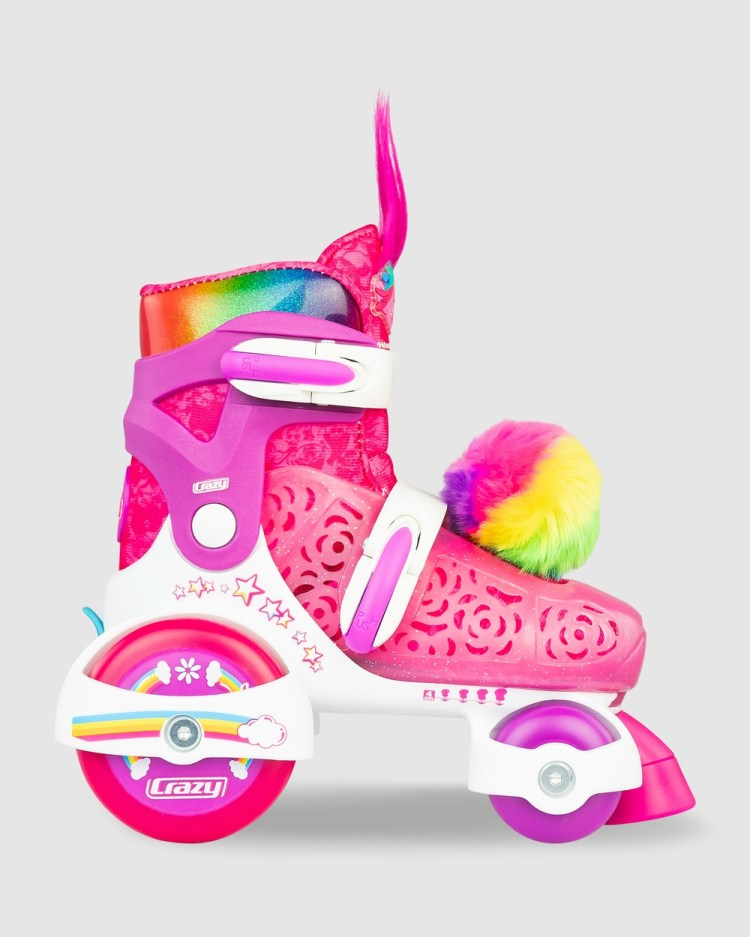 Crazy Skates Trolls World Tour Size Adjustable Klip Klop Skate Performance Shoes Pink/White