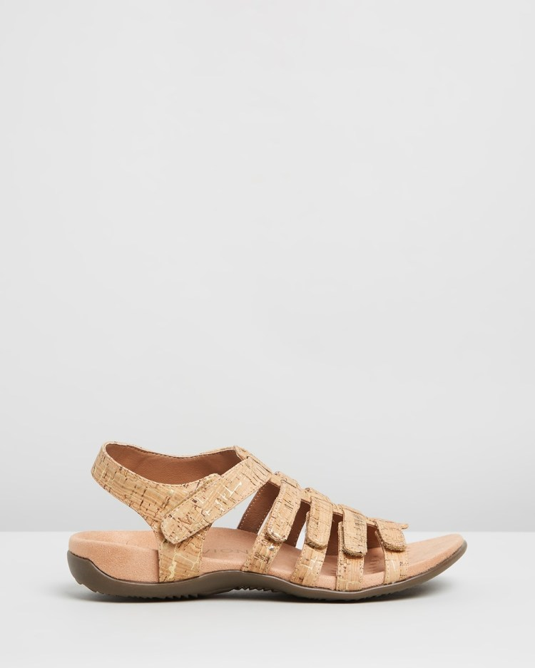 Vionic Harissa Sandals Gold Cork