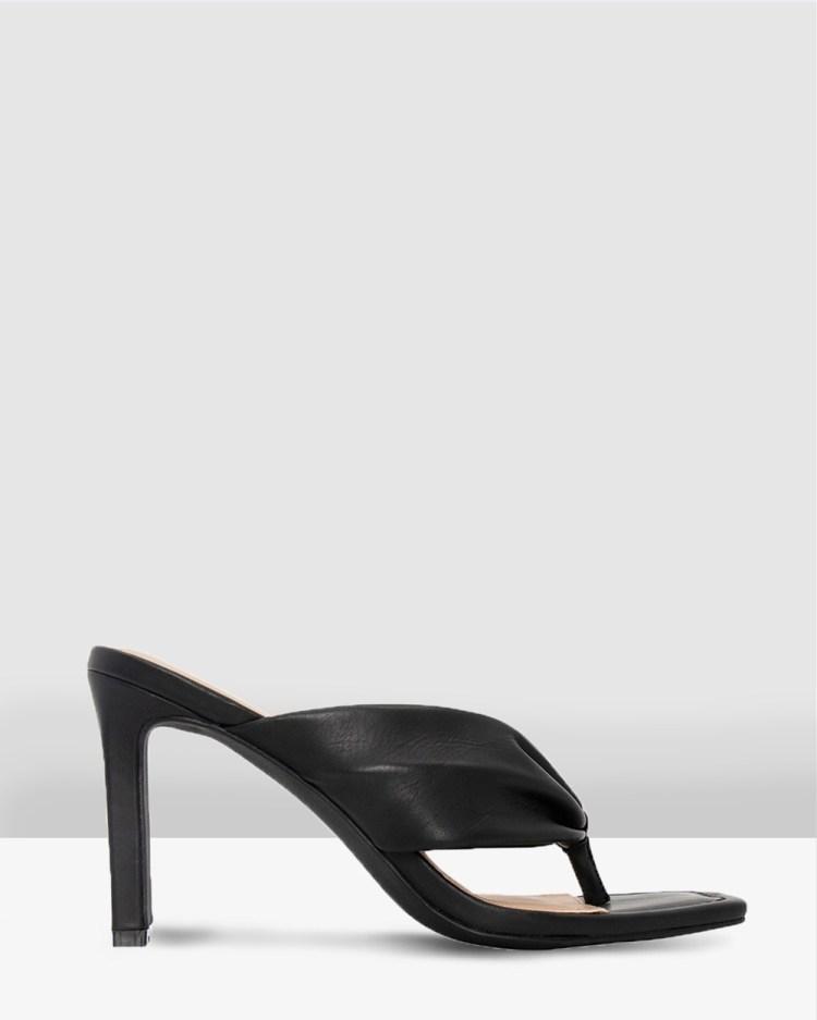 Skin Lukas Heels Black Leather