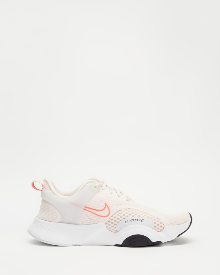 Nike SuperRep Go 2 Womens Performance Shoes Light Soft Pink, Cave Purple, White & Magic Ember