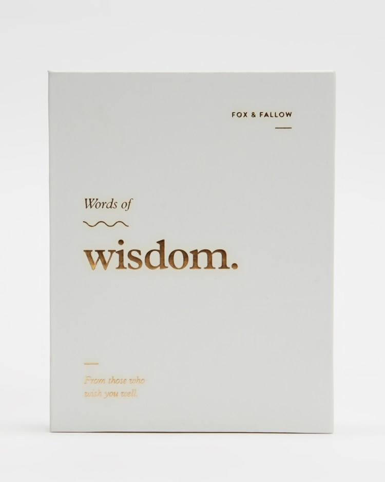 Fox & Fallow Words Of Wisdom Blank Note Cards All Stationery White