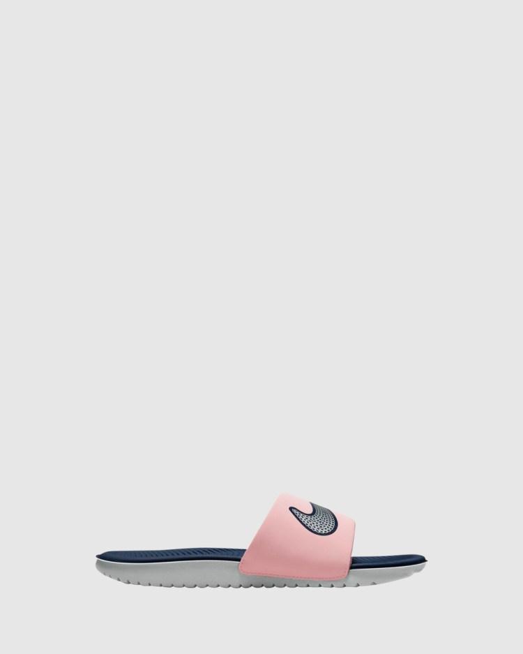 Nike Kawa Slide SE Sandals Pink Glaze/Metallic Silver