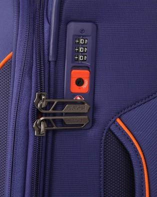 American Tourister - Applite 4Security Spinner 55 20 EXP TSA - Travel and Luggage (Bodega Blue) Applite 4Security Spinner 55-20 EXP TSA