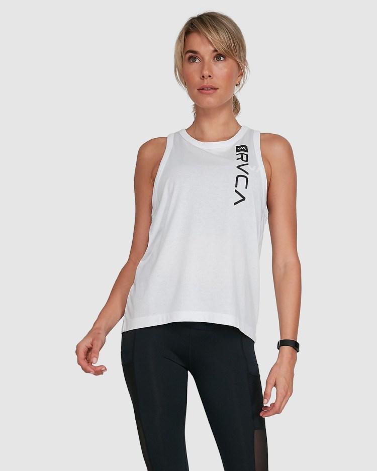 RVCA Sport Va Muscle Tops WHITE