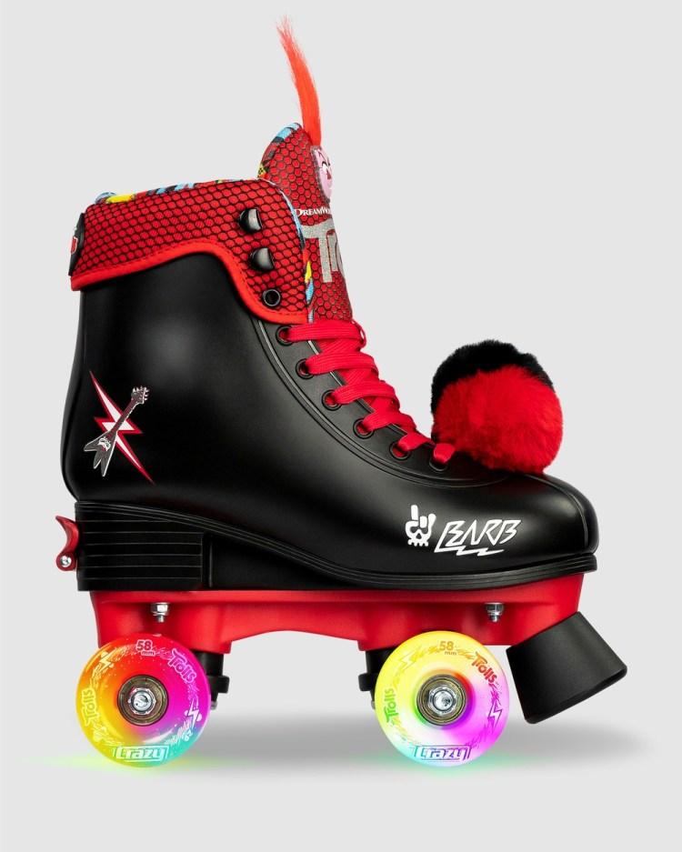Crazy Skates Trolls World Tour Size Adjustable Roller Skate Performance Shoes Black/Red