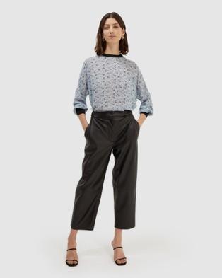 SABA Serizy Sheer Silk Top Tops blue