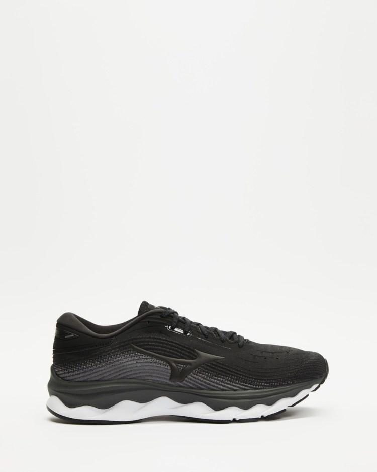 Mizuno Wave Sky 5 Mens Performance Shoes Black & Quiet Shade
