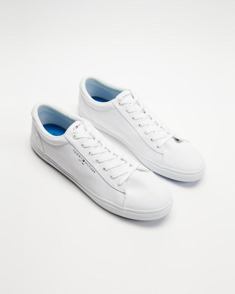Tommy Hilfiger Essential Stripes Textile Vulc Men's Sneakers White