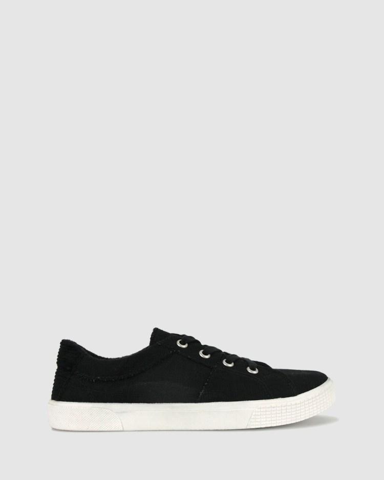 Zeroe Ozark Linen Sneakers Lifestyle Black