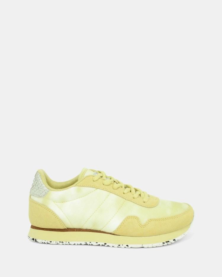 Woden Nora Tie Dye Sneakers yellow
