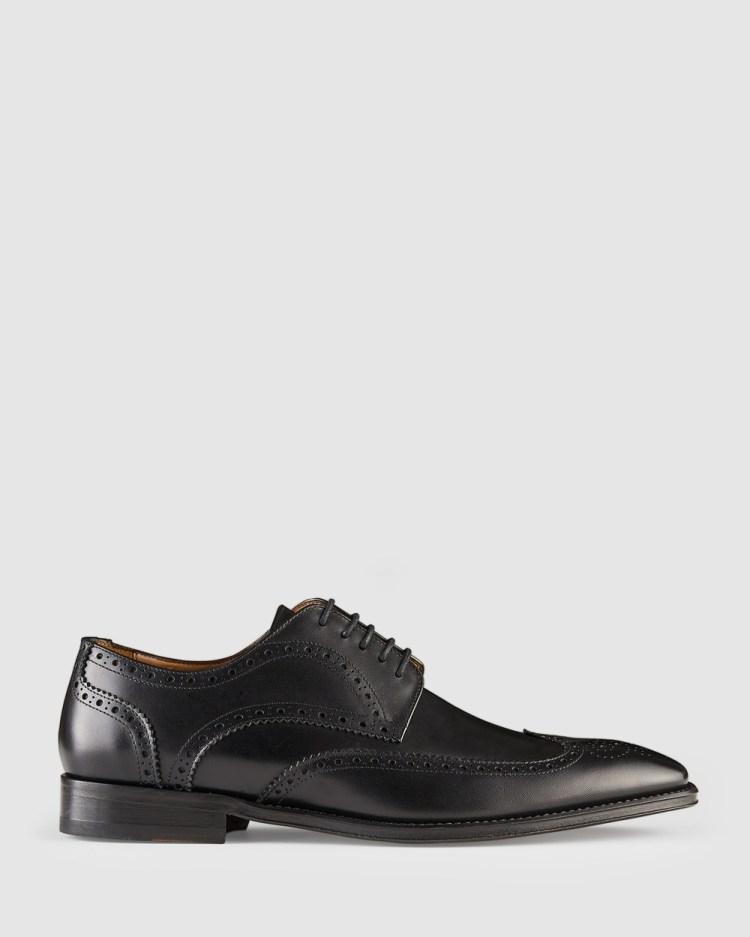 Aquila Bennet Brogues Dress Shoes Black