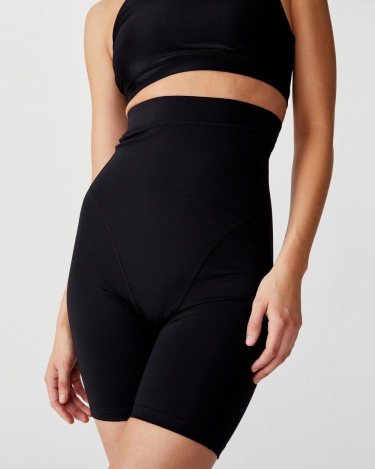 Cotton On Body Active Postnatal Compression Shorts 1/2 Tights Black