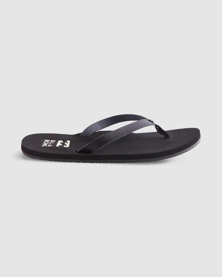 Billabong Shore Breakerz Sandals Flats BLACK