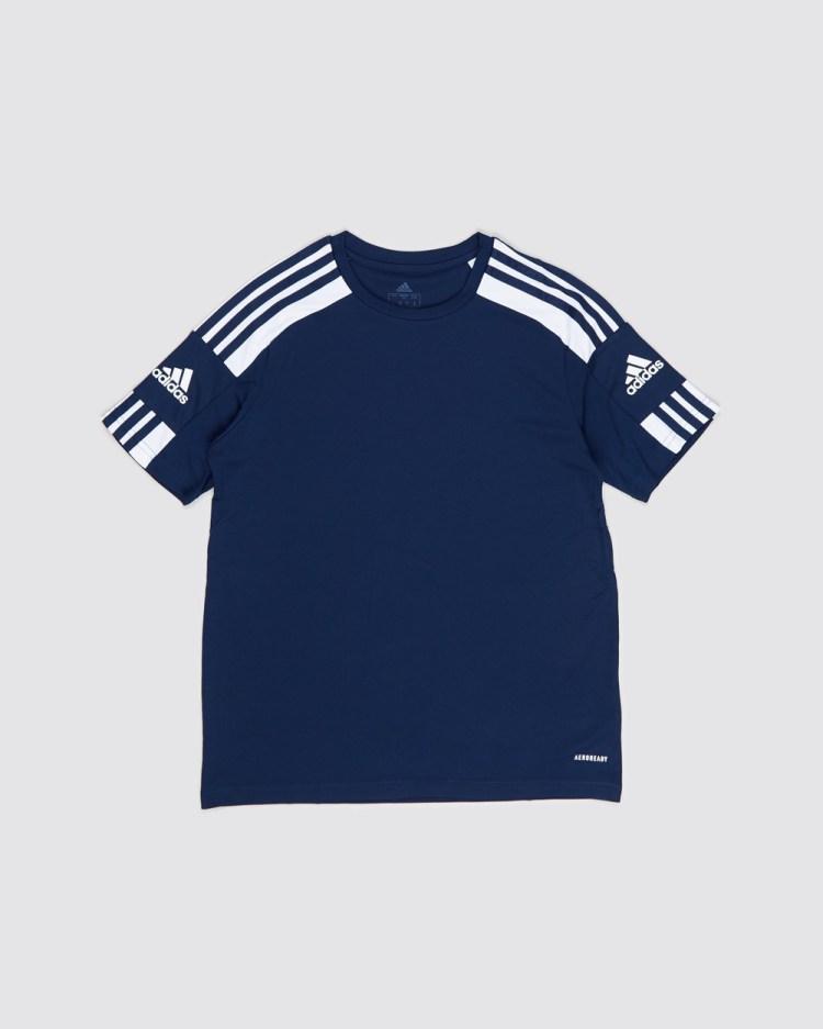 adidas Performance Squadra 21 Jersey Kids Teens Short Sleeve T-Shirts Team Navy & White Kids-Teens
