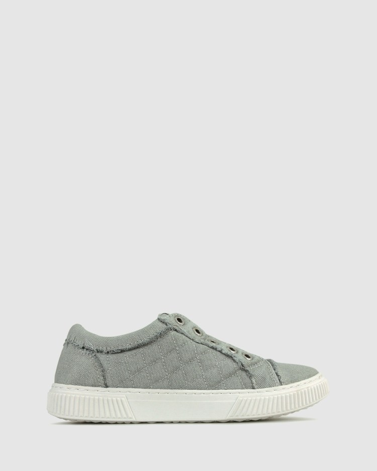 Zeroe Austin Quilted Canvas Sneaker Casual Shoes Grey
