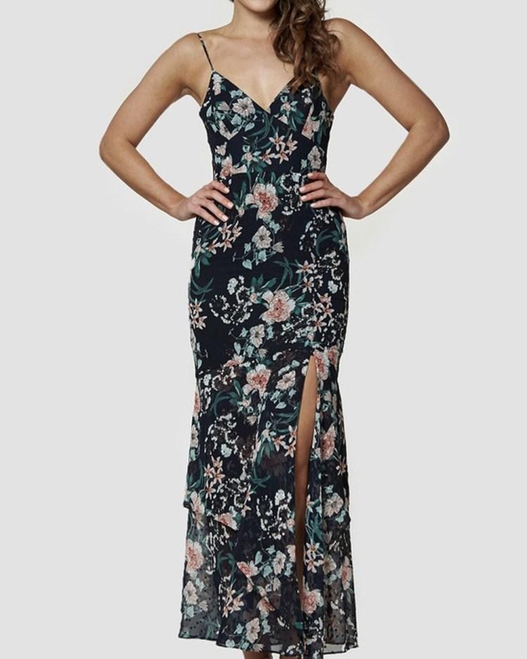 Amelius Ohannah Maxi Dress Bridesmaid Dresses Black