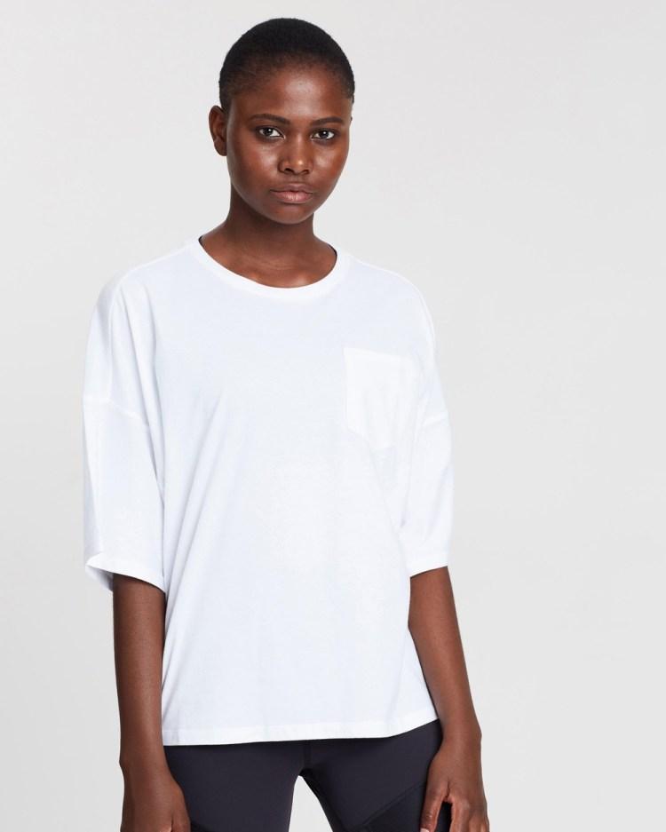 Reebok Performance Training Supply Pocket Tee Short Sleeve T-Shirts White