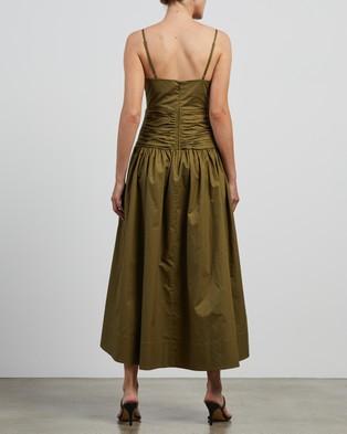 Shona Joy - Amaia Ruched Midi Dress - Dresses (Olive) Amaia Ruched Midi Dress