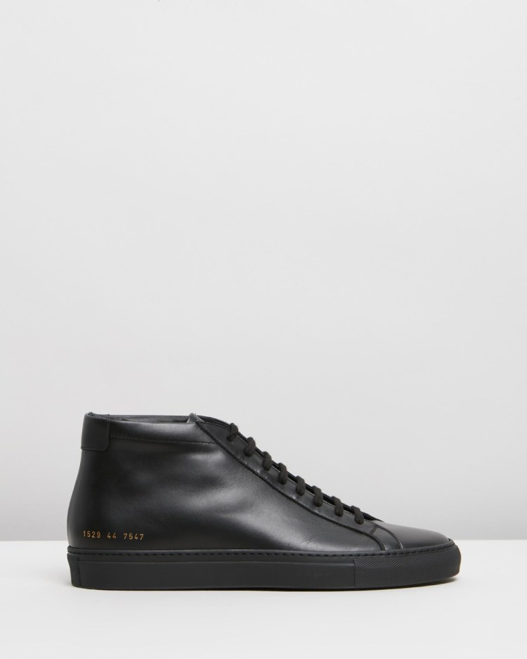 Common Projects Achilles Mid Mens Sneakers Black