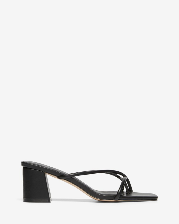Nelson Made Roma Sandals Black Calf Leather