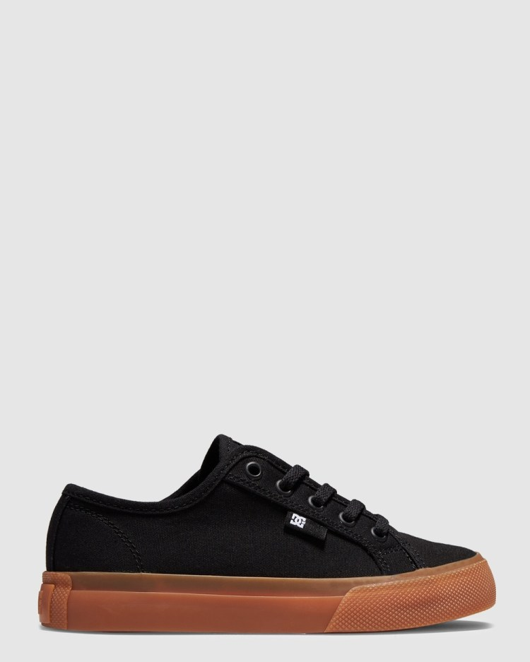 DC Shoes Youth Manual Shoe Sneakers Black/Gum