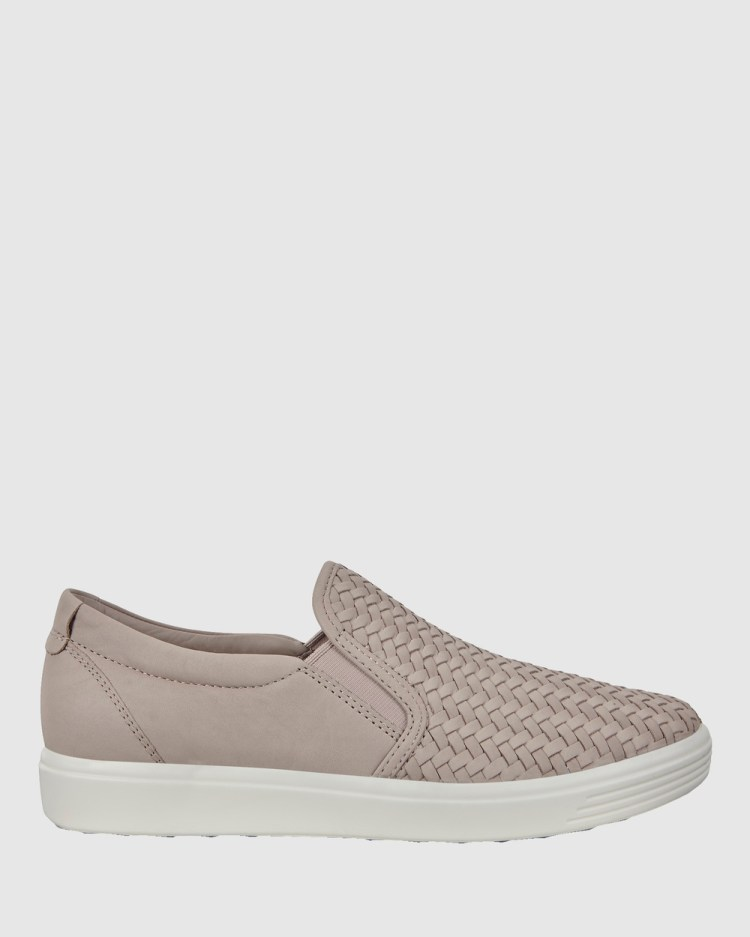 ECCO Soft 7 Womens Sneakers Lifestyle Grey