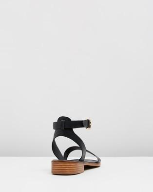 Jo Mercer Hattie Flat Sandals Black Leather